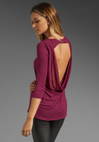 Blue Life Back Cowl Tunic Top