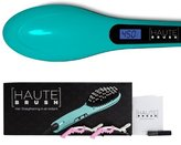 Haute Brush Hair Straightening Tool - The Fastest and Safest Way to Straighten Your Hair for Instant Styling, Shine and Natural Glow. (Blue)