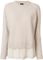 Joseph layered detail jumper - women - Silk/Cashmere/Wool - XS