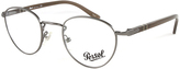 Persol Silver Oval Readers