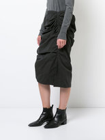 Yohji Yamamoto gathered tight skirt