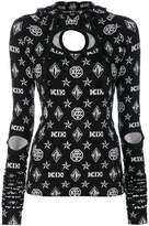 Kokon To Zai logo embroidered hooded top