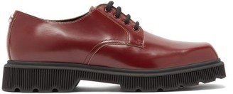 Gucci Mystras Leather Derby Shoes - Burgundy
