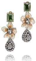 Tory Burch Emerald Stone DiamantE? Tear Drop Earring