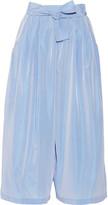 Tome Bow-embellished taffeta culottes