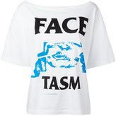 Facetasm logo print T-shirt - women - Cotton - 2
