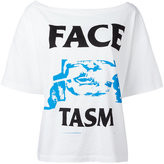 Facetasm logo print T-shirt - women - Cotton - 3