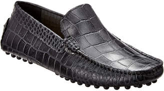 Rush by Gordon Rush Croc-Embossed Leather Loafer