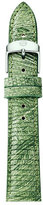 Michele 16mm Lizard Watch Strap, Green