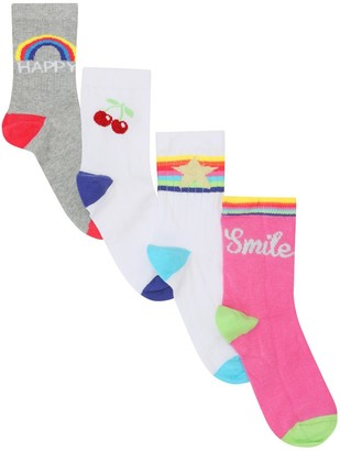 M&Co Rainbow socks four pack