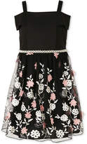 Speechless Floral Embroidered Dress, Little Girls (4-6X)