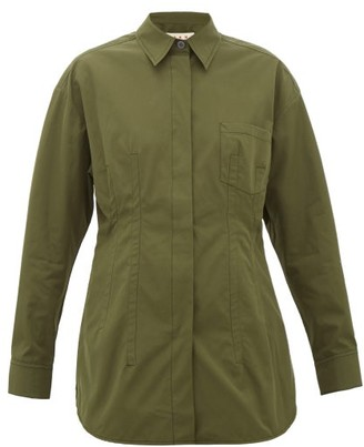 Marni Cotton-poplin Shirt - Khaki