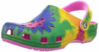 Crocs Unisex Classic Tie Dye Clog | Comfortable Slip on Water Shoes