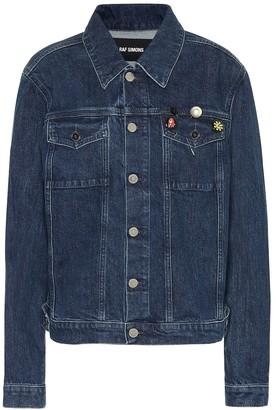 Raf Simons Embellished stretch-denim jacket