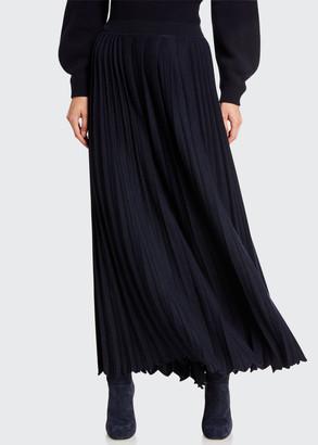 Loro Piana Knife-Pleated Skirt