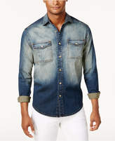 Sean John Men's Big & Tall Faded Denim Shirt