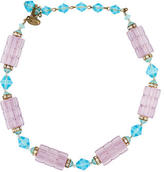 Miriam Haskell Crystal Station Necklace
