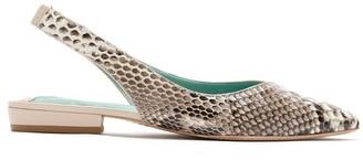 Blue Bird Shoes Python Duo slingback ballerinas