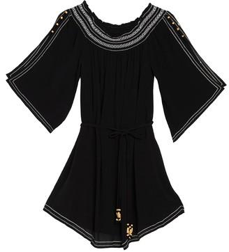 Hale Bob Off-the-Shoulder Split Sleeve Shoulder Dress