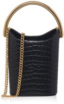 Stella McCartney Croc-effect Shoulder Bucket Bag
