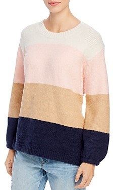 Single Thread Color-Block Sweater