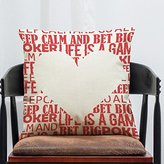 Hot Sale Nordic Style Cushion Cover,Highpot Geometry&Letter&Function&Poker Prints Square Throw Pillow Case Creative Car Office Home Decorative (N)