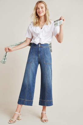 Pilcro And The Letterpress Pilcro Ultra High-Rise Wide-Leg Cropped Jeans
