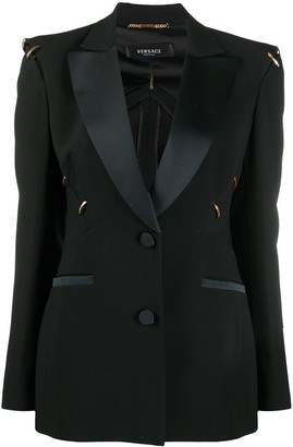 Versace Ring-Detail Single-Breasted Blazer