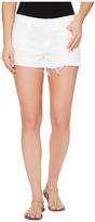Hudson Kenzie Cut Off Five-Pocket Shorts in White Women's Shorts