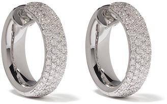 Leo Pizzo 18kt white gold Diamante diamond hoop earrings