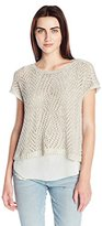 Lucky Brand Women's Marled Stich Pullover Sweater
