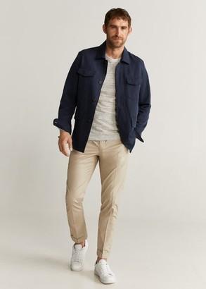MANGO MAN - Slim-fit cotton pants beige - 28 - Men