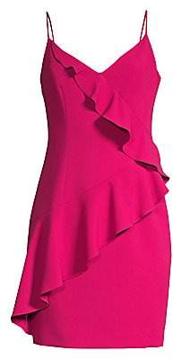 Black Halo Women's Kim Ruffle Front Sheath Dress