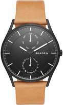 Skagen Skw6265 Holst Black Ion-plated Steel And Leather Watch