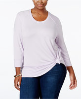 Melissa McCarthy Trendy Plus Size High-Low Top