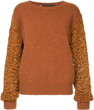 Muller of Yoshio Kubo Contrast Knitted Sweater