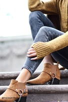 Forever 21 FOREVER 21+ Faux Suede Chain Booties