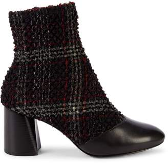 3.1 Phillip Lim Drum Plaid Boucle & Leather Booties