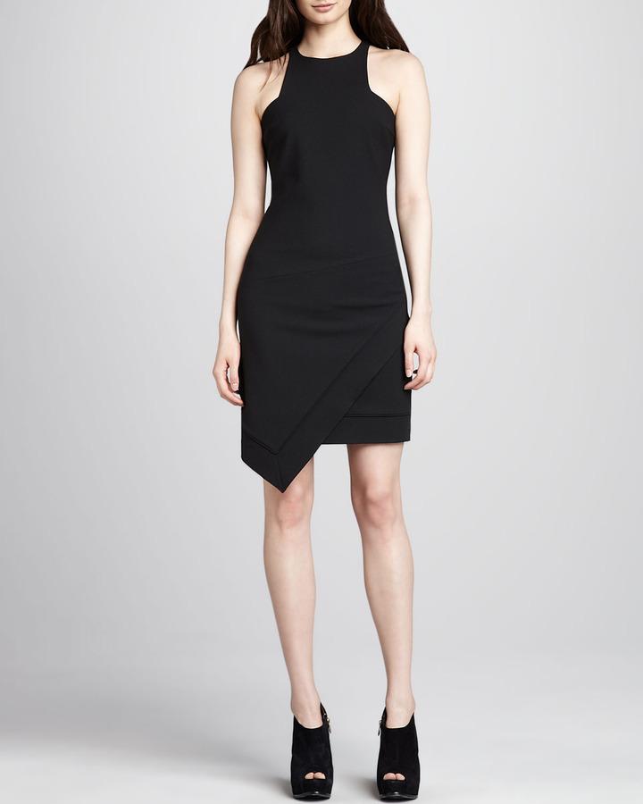 Elizabeth and James Claire Sleeveless Asymmetric Dress