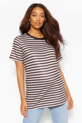 boohoo Maternity Stripe Ringer Tshirt