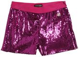 Roberto Cavalli Sequins Embroidered Tulle Shorts