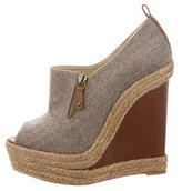 Christian Louboutin Flannel Espadrille Booties