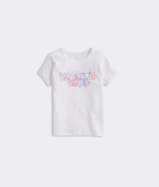 Vineyard Vines Girls' Floral Embroidered Ringer Tee