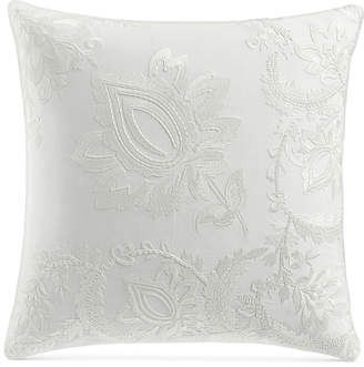 "Charter Club Damask Designs Jacobean Embroidered 18"" Square Decorative Pillow, Bedding"