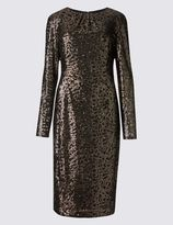 Marks and Spencer Sequin Lined Long Sleeve Bodycon Dress