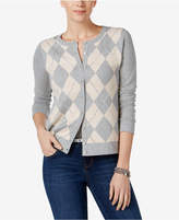 Charter Club Embellished Argyle Cardigan, Only at Macy's