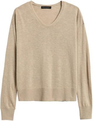Banana Republic Petite Relaxed Linen-Blend Sweater
