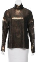 Tibi Sequined Long Sleeve Top