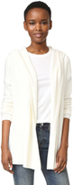 TSE Long Sleeve Hooded Cashmere Cardigan