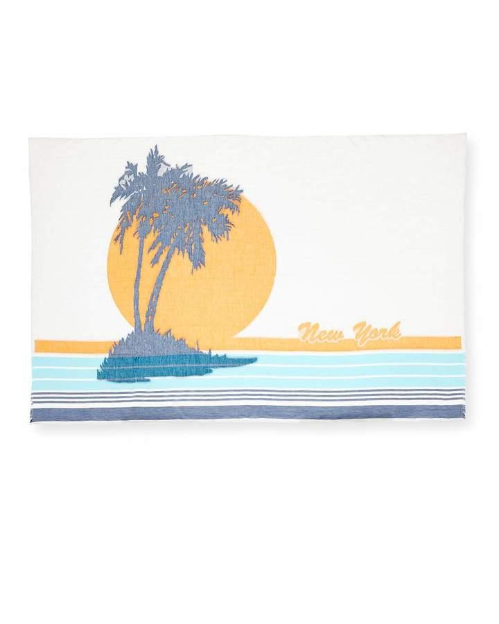 Rag & Bone Striped Sunset Scarf, White Pattern